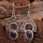 amethyst-Gemstone-Sterling-Silver-Boho-Drop-Earrings-for-Women-and-Girls-Bezel-Set-Ear-Wire-Earrings-Purple-Bridesmaid-B08K61KLN2-2