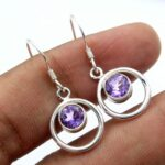 amethyst-Gemstone-Sterling-Silver-Dangle-Earrings-for-Women-and-Girls-Bezel-Set-Ear-Wire-Earrings-Purple-Bridesmaid-Ea-B08K63PH89