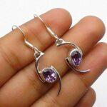 amethyst-Gemstone-Sterling-Silver-Drop-Earrings-for-Women-and-Girls-Bezel-Set-Ear-Wire-Earrings-Purple-Bridesmaid-Earr-B08K61X54Y