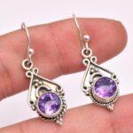 amethyst-Gemstone-Sterling-Silver-Drop-Earrings-for-Women-and-Girls-Bezel-Set-Ear-Wire-Earrings-Purple-Bridesmaid-Earr-B08K6231MB