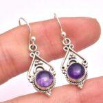 amethyst-Gemstone-Sterling-Silver-Drop-Earrings-for-Women-and-Girls-Bezel-Set-Ear-Wire-Earrings-Purple-Bridesmaid-Earr-B08K62SYH3-2