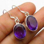 amethyst-Gemstone-Sterling-Silver-Ellipse-Drop-Earrings-for-Women-and-Girls-Bezel-Set-Ear-Wire-Earrings-Purple-Bridesm-B08K629NXH