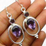 amethyst-Gemstone-Sterling-Silver-Ellipse-Geomatric-Drop-Earrings-for-Women-and-Girls-Bezel-Set-Ear-Wire-Earrings-Purp-B08K647734
