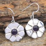 amethyst-Gemstone-Sterling-Silver-Floral-Dangle-Earrings-for-Women-and-Girls-Bezel-Set-Ear-Wire-Earrings-Purple-Brides-B08K616GD7