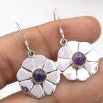 amethyst-Gemstone-Sterling-Silver-Floral-Dangle-Earrings-for-Women-and-Girls-Bezel-Set-Ear-Wire-Earrings-Purple-Brides-B08K616GD7-2