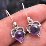 amethyst-Gemstone-Sterling-Silver-Small-Dangle-Earrings-for-Women-and-Girls-Bezel-Set-Ear-Wire-Earrings-Purple-Bridesm-B08K6264T8-2
