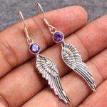 amethyst-Gemstone-Sterling-Silver-Wing-Drop-Earrings-for-Women-and-Girls-Bezel-Set-Ear-Wire-Earrings-Purple-Bridesmaid-B08K642V1Y-2